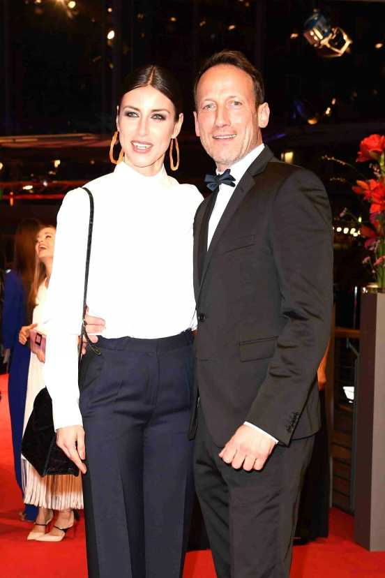 BERLIN, GERMANY - FEBRUARY 09: Wotan Wilke Moehring (R) and partner Cosima Lohse attend the 'Django' premiere during the 67th Berlinale International Film Festival Berlin at Berlinale Palace on February 9, 2017 in Berlin, Germany. (Photo by Matthias Nareyek/WireImage) *** Local Caption *** Wotan Wilke Moehring; Cosima Lohse