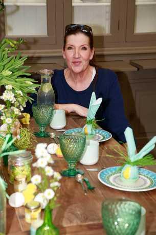 Katy Karrenbauer The Perfect Easter Table, Promis dekorieren im Alstertal Zentrum in Hamburg am 27.März 2017 Foto: Abi Schmidt